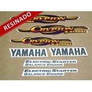 Kit Adesivos Crypton 2004 Vermelha Resinado