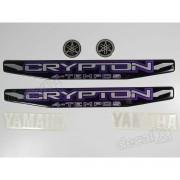 Kit Adesivos Crypton 2010 À 2011 Preta Resinado