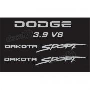 Kit Adesivos Dodge Dakota Sport 3.9 V6 Em Prata Decalx
