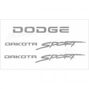 Kit Adesivos Dodge Dakota Sport Em Prata Decalx