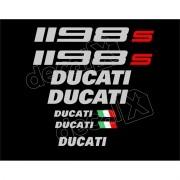 Kit Adesivos Ducati 1198s Preta Decalx