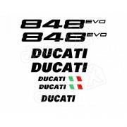 Kit Adesivos Ducati 848 Evo Branca Decalx