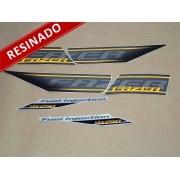 Kit Adesivos Fazer 250 Especial 2011 Preta Resinado