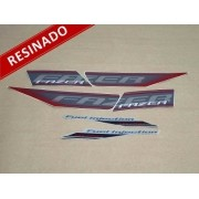 Kit Adesivos Fazer 250 Especial 2011 Vermelha Resinado