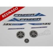 Kit Adesivos Fazer 250bf 2013 Prata Resinado
