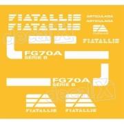 Kit Adesivos Fiatallis Fg 70a Antigo