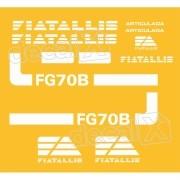 Kit Adesivos Fiatallis Fg 70b Antigo