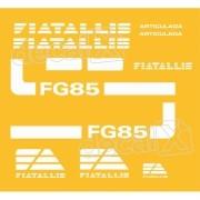 Kit Adesivos Fiatallis Fg 85 Antigo