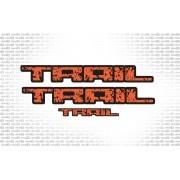 Kit Adesivos Ford Fiesta Trail Laranja/preto Traillp