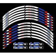 Kit Adesivos Friso Refletivo Roda Moto Bmw Hp4 Fri018