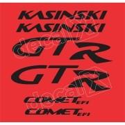 Kit Adesivos Kasinski Comet 250 Gtr Em Preto 02