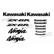 Kit Adesivos Kawasaki Ninja Zx-6r 09-11 Branca