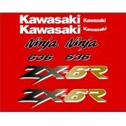 Kit Adesivos Kawasaki Ninja Zx-6r 2003 Vermelha