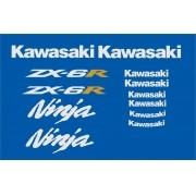 Kit Adesivos Kawasaki Ninja Zx-6r 2006 Azul