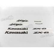 Kit Adesivos Kawasaki Ninja Zx-6r 2006 Verde