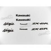 Kit Adesivos Kawasaki Ninja Zx-6r 2009 À 2011 Verde