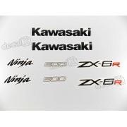 Kit Adesivos Kawasaki Ninja Zx-6r 2012 Preta