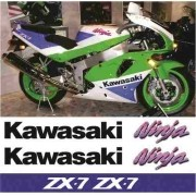 Kit Adesivos Kawasaki Ninja Zx-7 1991 Zx7