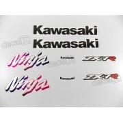 Kit Adesivos Kawasaki Ninja Zx-7r 1996 À 1998 Verde Resinado