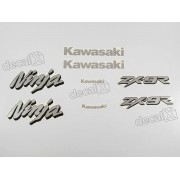 Kit Adesivos Kawasaki Ninja Zx-9r 1998 À 1999 Preta