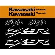 Kit Adesivos Kawasaki Ninja Zx-9r 2002 Laranja