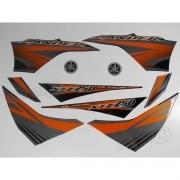 Kit Adesivos Lander 250 2012 Preta Resinado