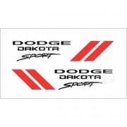 Kit Adesivos Laterais Dodge Dakota Sport Em Preto Dkspt