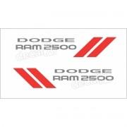 Kit Adesivos Laterais Dodge Ram 2500 Em Prata Ram25pa