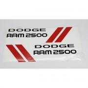 Kit Adesivos Laterais Dodge Ram 2500 Em Preto Ram25pt