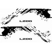 Kit Adesivos Laterais Mitsubishi L200 Triton Ltm002
