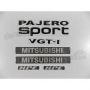 Kit Adesivos Pajero Sport 2009 Vgt-i Hpe Resinado