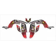 Kit Adesivos Quadriciclo Yamaha Raptor 660 Red 0,60mm 3m