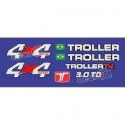 Kit Adesivos Resinados Troller 2011 Azul Trl09