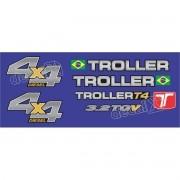 Kit Adesivos Resinados Troller 2013 Azul Trl13