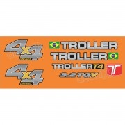Kit Adesivos Resinados Troller 2013 Laranja Trl13