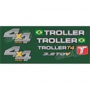 Kit Adesivos Resinados Troller 2013 Verde Trl13