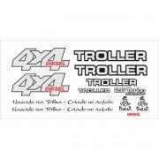 Kit Adesivos Resinados Troller 2014 Branco Trl13