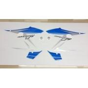 Kit Adesivos Suzuki Gsx650f 2011 Azul E Prata
