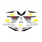 Kit Adesivos Suzuki Gsxr 750 2005 Amarela E Preta 75005am
