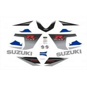 Kit Adesivos Suzuki Gsxr 750 2005 Azul E Preta 75005ap