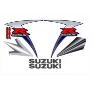 Kit Adesivos Suzuki Gsxr 750 2007 Azul E Preta 75007ap