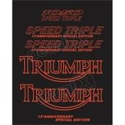 Kit Adesivos Triumph 1050 Speed Triple Preta Vermelho
