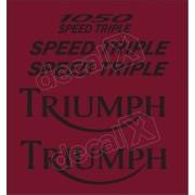 Kit Adesivos Triumph 1050 Speed Triple Vermelha Decalx