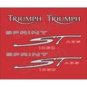 Kit Adesivos Triumph 1050 Sprint St 1050 Vermelha Decalx