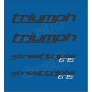 Kit Adesivos Triumph 675 Street Triple Azul Decalx