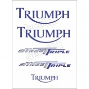 Kit Adesivos Triumph 675 Street Triple Branca E Azul Decalx