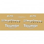 Kit Adesivos Triumph Daytona 675 Amarela E Branco Decalx