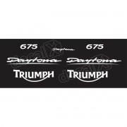 Kit Adesivos Triumph Daytona 675 Preta E Branco Decalx