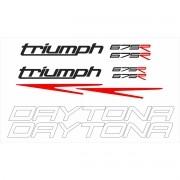 Kit Adesivos Triumph Daytona 675 R 2014 Branca Td002