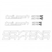Kit Adesivos Triumph Daytona 675 R 2014 Vermelha Td003